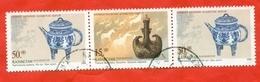 Kazakhstan 2000.Joint Issue Of Kazakhstan-China. Vessels. Used Stamps. - Kazakhstan