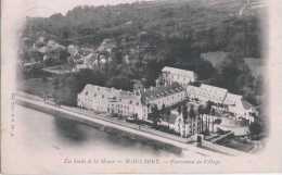 Waulsort - Le Château - Panorama Du Village - Circulé - Dos Non Séparé - TBE - Hastière - Hastière