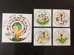 Iraq 2014 World Cup Football MNH Stamp Brazil - Iraq