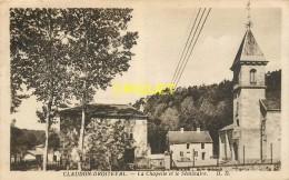 88 Claudon-Droiteval, La Chapelle Et Le Séminaire, Carte Pas Courante Affranchie 1944 - Altri Comuni