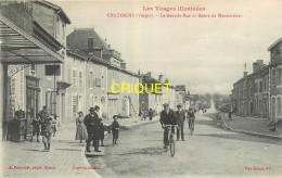 88 Chatenois, Grande Rue Et Route De Mannecourt, Belle Animation, Cyclistes...., écrite 1916 - Chatenois