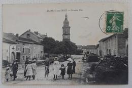 CPA DAMAS Aux BOIS Grande Rue Animée Ecrite 1916 - Brouvelieures