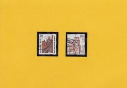 Mi-Nr. 2224 - 25 Sehenswürdigkeiten  - 0,20 + 5.10 Pf - Gebraucht