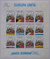 REPUBBLICA !!! 1993 ITALIA FOGLIETTO EUROPA UNITA MNH** !!! BF16 - 6. 1946-.. Repubblica