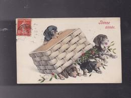 Carte De Voeux , Petits Chiens - Cartes Postales