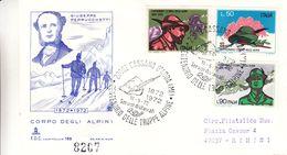 Italie - Lettre De 1972 - Oblit Cassano D'Adda - Soldats - Ski - Centenaire Des Troupes Alpines - Tirage Limitté - - 6. 1946-.. Repubblica