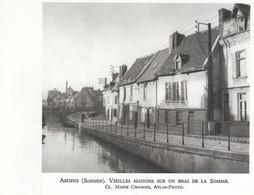 1952 - Héliogravure - Amiens (Somme) - Vieilles Maisons Sur Un Bras De La Somme - FRANCO DE PORT - Vieux Papiers