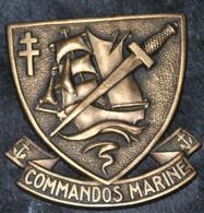 Rare Insigne Commando De Marine Commando Kieffer Avant Guerre Algérie Fabrication Arthus Bertrand - 1939-45