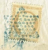 PARIS LAC TAD 17 Bleu Du 17/02/1876 étoile Pleine Bleue Sur N° 55 TTB - Marcofilia (sobres)