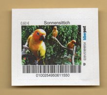 Privatpost Biberpost - Vögel - Papageien - Sonnensittich (Aratinga Solstitialis) - BRD