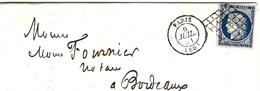 1851 -lettre De Paris Bureau Central Affr. N°4 ( 4 Marges )  Oblit. Grille - Storia Postale