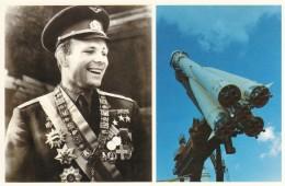 CPA - Le Pavillon Cosmos Moscou - Youri Gagarine Et Fusée Porteuse Du Vaisseau Spatial Vostok - Astronomia