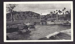 CPSM TRINIDAD - TRINITE - Bord De Mer - TB PLAN Palmiers Habitations + Petite Animation TB TIMBRES Publicité PLASMARINE - Trinidad