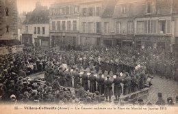 S114 - Cpa 02  Villers Cotterets - Un Concert Militaire Sur La Place Du Marché En Janvier 1915 - Villers Cotterets