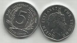 East Caribbean States 5 Cents  2004. High Grade - East Caribbean States