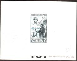 AOF 1957  - Centenaire Des  Troupes Africaines  , Yvert# PA21  -  Epreuve  De Luxe - Rarement Offert ! - A.E.F. (1936-1958)