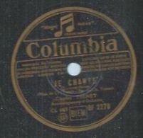 """78 Tours - CHARLES TRENET  - COLUMBIA 2270  """" JE CHANTE """" + """" FLEUR BLEUE """" - 78 T - Disques Pour Gramophone"""