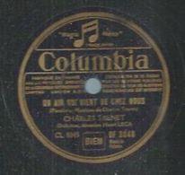 """78 Tours - CHARLES TRENET  - COLUMBIA 2048  """" UN AIR QUI VIENT DE CHEZ NOUS """" + """" ON DANSE A PARIS """" - 78 T - Disques Pour Gramophone"""