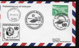 ONU Lettre 1988  Espace Navette Spatiale Helicopteres - FDC & Commemorrativi