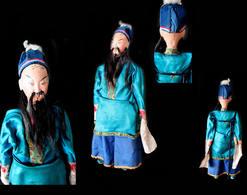 Thiezi Kuilei, Ancienne Marionnette De Chine : Serviteur De La Cour Impériale / Old Chinese Puppet - Asian Art