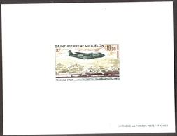Saint Pierre Et Miquelon  1973  , Transall  C160  , Yvert# PA57 , Scott# C54 - Epreuve De Luxe ** - Non Dentelés, épreuves & Variétés