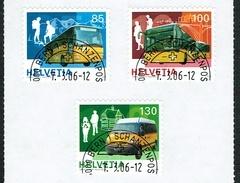 LA SERIE TIMBRES OBLITERES 1er/J. 2006 C/.S.B.K. Nr:1192A/1194A Y&TELLIER Nr:1882/1884 MICHEL Nr:1956/1958. - Suisse