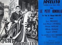 Dossier De Presse Cinéma. Joselito De Manuel Mur Otti Avec Luis Prendes, JM.Cafarell, Marisa Merlini, A.Alonso. - Cinema Advertisement