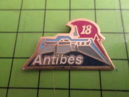 1218a Pin's Pins / Rare Et De Belle Qualité / POMPIERS / CASERNE ANTIBES - Firemen