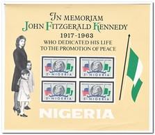 Nigeria 1964, Postfris MNH, John Fitzgerald Kennedy ( Right Below Some Carves ) - Nigeria (1961-...)