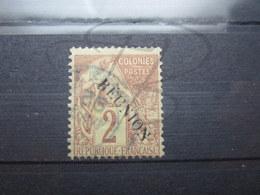 """VEND BEAU TIMBRE DE LA REUNION N° 18 , AVEC ACCENT SUR LE """" E """" !!! - Réunion (1852-1975)"""