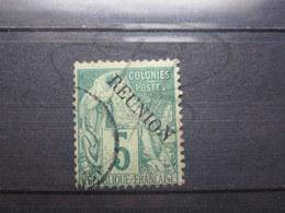 """VEND BEAU TIMBRE DE LA REUNION N° 20 , """" N """" DECALE !!! - Réunion (1852-1975)"""