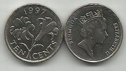 Bermuda 10 Cents 1997. - Bermudes