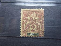 VEND BEAU TIMBRE DE LA REUNION N° 33 , LOSANGE DE POINTS !!! - Réunion (1852-1975)
