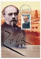 FRANCE - Carte Maximum - Emile Zola - Cachet AIX EN PROVENCE 5.10.2002 - 2000-09