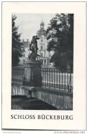 Schloss Bückeburg - 16 Seiten Mit 9 Abbildungen 50er Jahre - Reiseprospekte