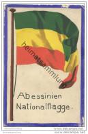 Abessinien - National Flagge - Keine Ansichtskarte Grösse Ca. 14 X 9 Cm Etwa 1920 Handgemalt Auf Dünnem Karton - Eritrea