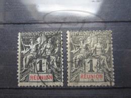 VEND BEAUX TIMBRES DE LA REUNION N° 32 X 2 NUANCES DIFFERENTES !!! - Réunion (1852-1975)