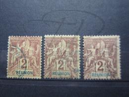 VEND BEAUX TIMBRES DE LA REUNION N° 33 X 3 NUANCES DIFFERENTES !!! - Réunion (1852-1975)