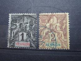 VEND BEAUX TIMBRES DE LA REUNION N ° 32 + 33 !!! - Réunion (1852-1975)