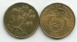 Seychelles 5 Cents 1982. FAO - Seychelles