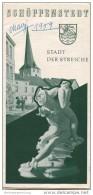 Schöppenstedt 1959 - Faltblatt Mit 6 Abbildungen - Beiliegend Kleines Schöppenstedter ABC - Reiseprospekte