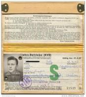 Köln - Kölner-Verkehrs-Betriebe - KVB - Schülerausweis 1957 - Wochen- U. Monatsausweise