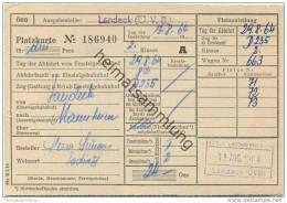 Landeck (Ö.V.B.) - Platzkarte D235 Landeck-Mannheim - ÖBB 1964 - Transporttickets