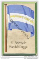El Salvador - Handels Flagge - Keine Ansichtskarte - Grösse Ca. 14 X 9 Cm - Etwa 1920 Handgemalt - El Salvador