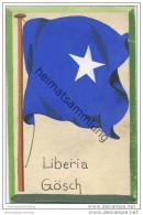 Liberia - Gösch - Flagge - Keine Ansichtskarte - Grösse Ca. 14 X 9 Cm - Etwa 1920 Handgemalt Auf Dünnem Karton - Liberia