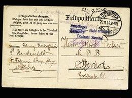 A5607) DR Feldpostkarte Döberitz-Übungsplatz 20.11.18 Seltener Stempel - Deutschland