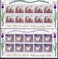 Bund 2023-2024 Weihnachten 100+ 50 Pf + 110 +50 Pf 10er Bogen Postfrisch - BRD