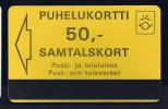 Telecard  Finland,  50 Units Yellow, UNC, Very Scarce,  MINT, RRRRR - Finland