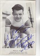 CPA PHOTO - CYCLISME - Marcel JEZO Carte Dédicassée, Palmarès Au Verso, Né à COLPO, 56 - MORBIHAN - Plan RARE - - Cycling
