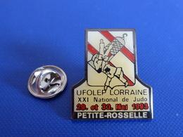 Pin's Judo - Tournoi Ufolep Lorraine - XXI National De Judo - 29 Et 30 Mai 1993 - Petite Rosselle (PB5) - Judo